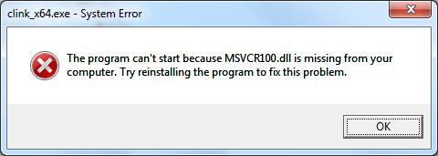msvcr100.dllmissingerrormessage